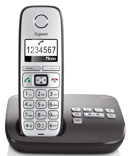Gigaset E310A Dect-Großtasten-Schnurlostelefon mit Anrufbeantworter, anthrazit