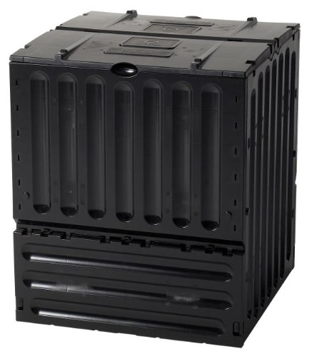 Tierra Garden 627004 Small Eco King Polypropylene 105-Gallon Composter, Black