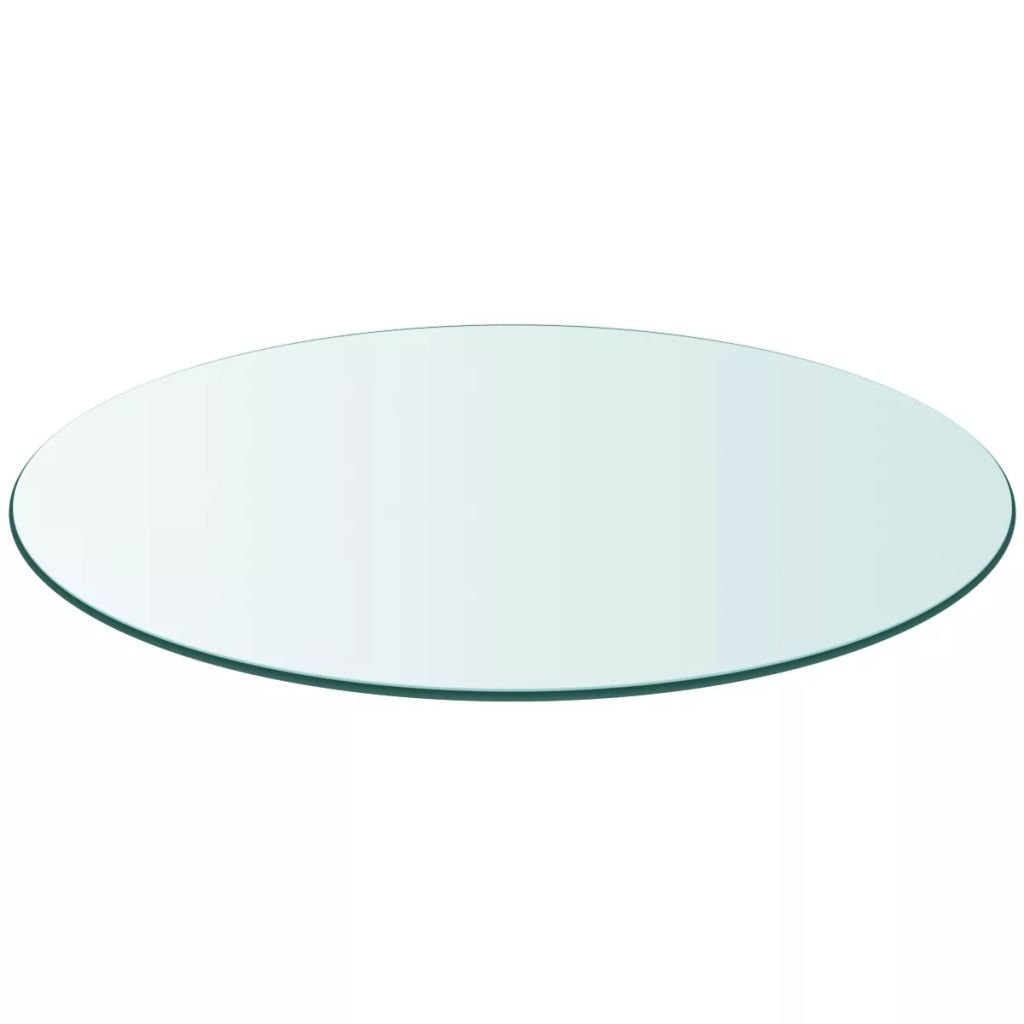 yorten Table Top Tempered Glass Round 19.7'' Transparent for Dining Tables, Coffee Tables, Garden Tables by yorten