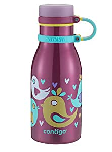 Amazon Com Contigo Double Wall Vacuum Insulated Stainless Steel Maddie Kids Water Bottle 12