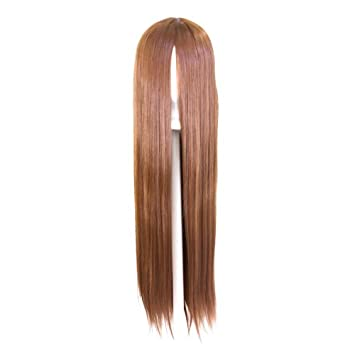 32/'/' Long Straight Long Bangs Plum Purple Cosplay Wig NEW