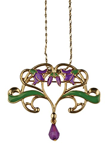 SUMMIT COLLECTION Flower Vine Pendant - Collectible Medallion Necklace Accessory Jewelry