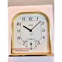 BULOVA QUARTZ, TABLE CLOCK, MADE IN JAPAN