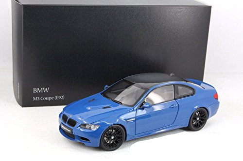 NEW 1:18 W/B KYOSHO COLLECTION - BLUE BMW M3 COUPE (E92M) Diecast Model Car By KYOSHO