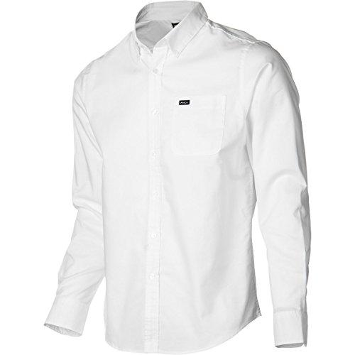 (RVCA Men's That'll Do Oxford Long Sleeve Woven Shirt, White, 2XL)