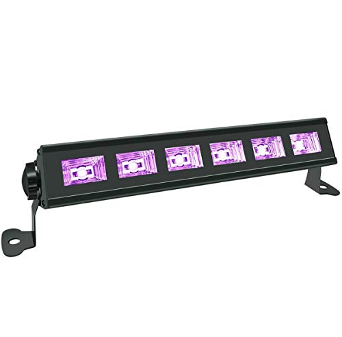 Black Light, HouLight 18W UV 6LEDs UV Bar Blacklights for Birthday Parties, Stage Lighting, Weddings, Glow Parties and Black Light Party Supplies