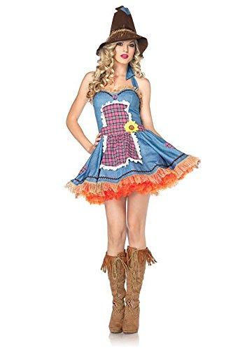 Sunflower Scarecrow Adult Costume - Small/Medium (Sunflower Costumes For Adults)