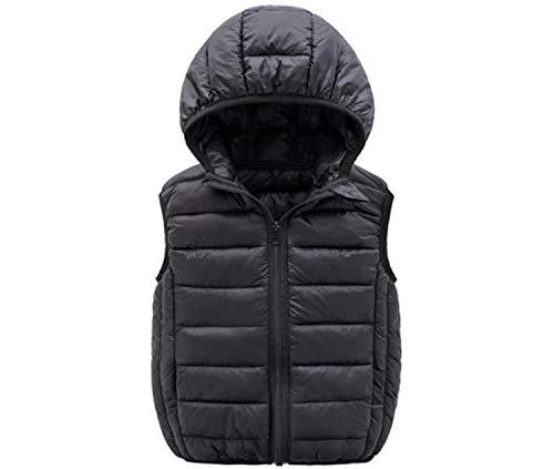 Waistcoat Vest Jacket Warm Thick Solid Color Kids Boys Girls Down Vest Coats Baby Hooded Waistcoat -