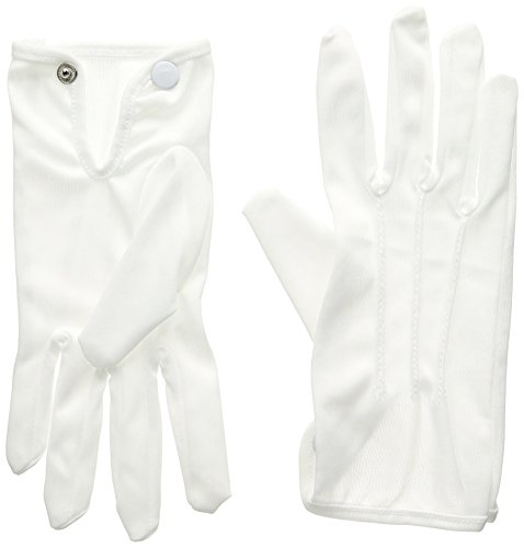 Deluxe Theatrical Gloves (white) Party Accessory  (1 count) (1 (Hollywood Party Outfits)