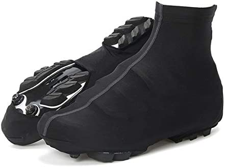 防寒 シューズカバー 防風性と防水靴カバーに屋外サイクリング機器ソリッドカラーサイクリングシューズカバー 携帯便利 シューズカバー (Color : Black, Size : XL)
