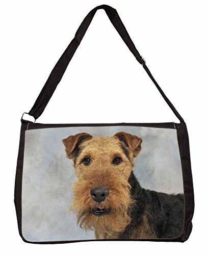 Welsh Terrier Dog Large 16 Black School Laptop Shoulder Bag xgvVj