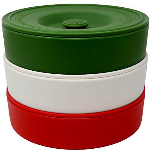 Fiesta Tortilla Warmers 3 pack - 8 Inch Tortilla Warmer/Tortilla Holder - Green, White, Red (Best Way To Warm Up Flour Tortillas)