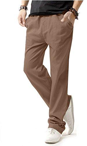 c88fc825ab0e 8 · HOEREV Men Casual Beach Trousers Linen Jean Jacket Summer Pants