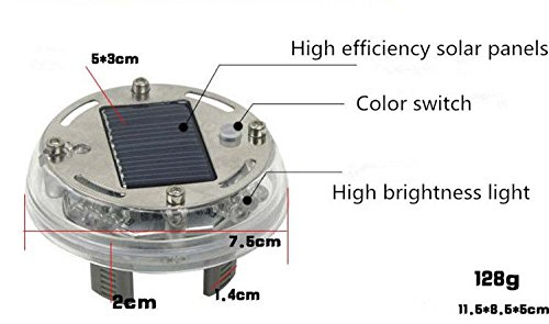 SHiZAK 12 LEDs Solar Flash Wheel Light 4 Modes Color for Car Vehicle Auto Decoration Lamp Tyre Auto Solar Energy Flashlight