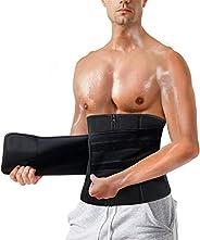 Gotoly Men Waist Trainer Belt Waist Trimmer Neoprene Weight Loss Slimming Body Shaper Workout Belly Band Sport