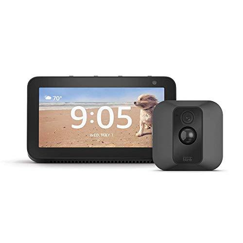 Echo Show 5 (Charcoal) with Blink XT2 Outdoor/Indoor Smart Security Camera - 1 camera kit