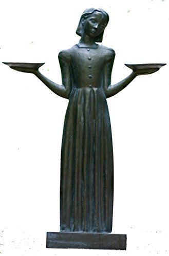 Bird Girl Large with Pedestal ''37.5h by Sylvia Shaw Judson Collection
