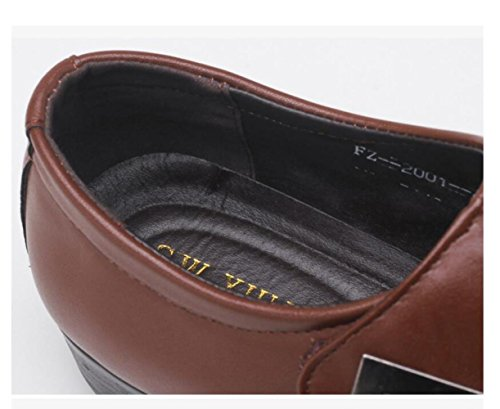 Sólido Gran Calzado Casual bajo Moda de Zapatos Boca de Baja Tamaño Color Brown de XqzrRXw4