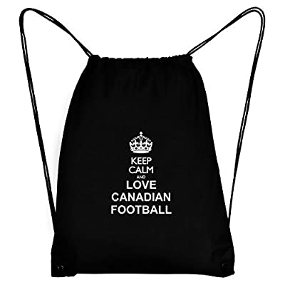 Teeburon Keep calm and love Canadian Football Sport Bag hot sale 2017