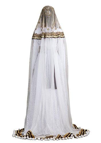 palasfashion Damen Crepe Kaftan mit veilwhite