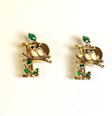 メルヘンな森の動物 P アルファベット 2個 イニシャルチャーム アクセサリーパーツ ハンドメイド 手芸材料