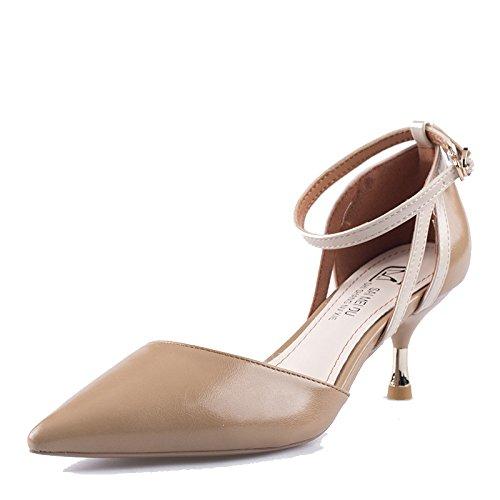 38 Hauts Pointu Talons Escarpins 5 5 Ladies Court Nudecolor Sexy EU Ladies 6cm Chaussures Toe UK Party Femmes Dress Z4wfqIEEn