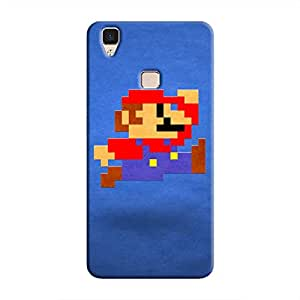 Cover It Up - Mario Pixelated Blue V3 Hard Case