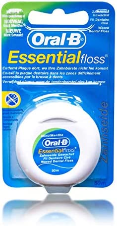 5Pack Oral-B Essentialfloss Zahnseide gewachst mint 5x 50m
