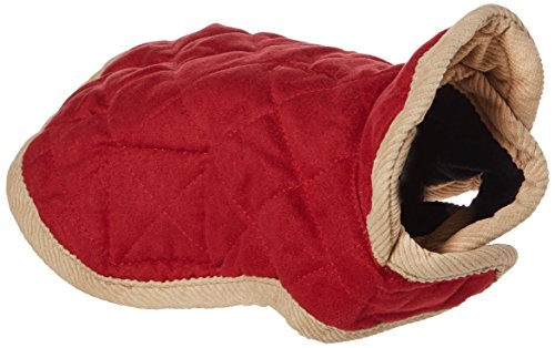 Dog Gone Smart Bed DGSWSBQ0806 Nanosuede Belly Quilted Dog Jacket, 8-Inch, Red