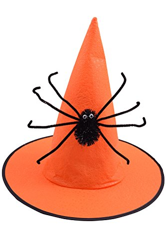 BODY STRENTH Womens Witch Hat Halloween Party Wicked Spider Orange by BODY STRENTH