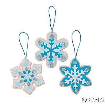 (12 Kits) Snowflake Christmas Cookies Ornament Craft Kits ()