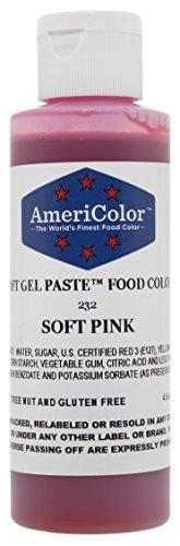 Americolor Soft Gel Paste, 4.5-Ounce, Soft pink