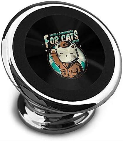 猫連合の世界支配 携帯電話ホルダー おしゃれ 車載ホルダー 人気 磁気ホルダー 大きな吸引力 サポートフレーム 落下防止 360度回転