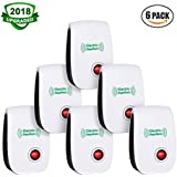 VEPOWER Ultrasonic Electronic Repellent, Pest Repeller Plug Control in Indoor Usage, Best Pest Controller to Bugs, Insects Mice, Ants, Mosquitoes, Spiders, Rodents and Roach(6 Packs)