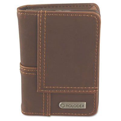 Explorer Leather Personal Card Case, 36-Card Capacity, 2 3/4 x 4, Brown