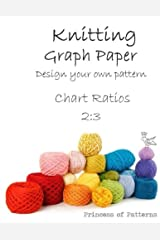 Knitting Graph Paper Notebook: Design Your Own: Chart Ratios 2:3 Paperback