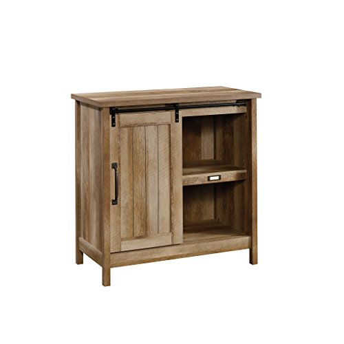 "Sauder 422473 Adept Storage Accent Storage Cabinet, For TV's up to 39"", Craftsman Oak finish"