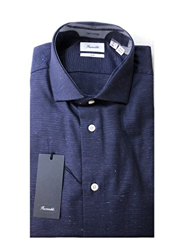 Faconnable Club Fit Dress Shirt, Shirt - 43 Neck - 17 Sleeve - 33