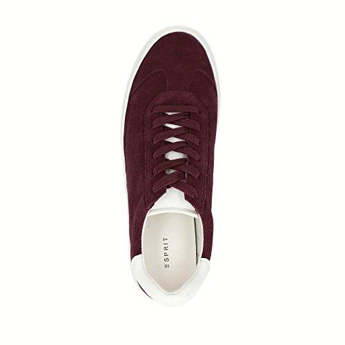 027EK1W037-420 Crosty LU Damen Sneaker Aus Veloursleder mit Textilfutter Bordeaux