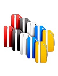 Landisun Luggage Tags Bag Tags for Baggage Tags Travel Tags ID Card of 10 Pack (multi-10PCS)