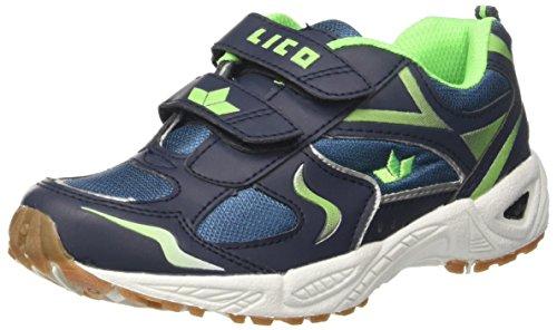 GEKA Bob V, Zapatillas de Deporte Interior Unisex Niños Azul (Marine/lemon Marine/lemon)