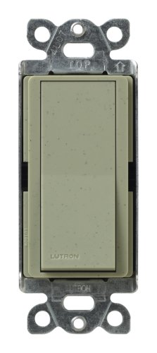 Lutron Claro On/Off Switch, 15-Amp, Single-Pole, SC-1PS-GB, Greenbriar