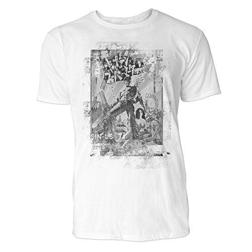 SINUS ART® Campbell Comic Herren T-Shirts stilvolles weißes Fun Shirt mit tollen Aufdruck