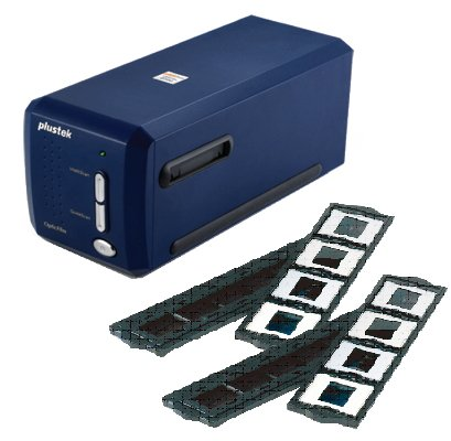 Plustek(オーグ) OpticFilm 8100 +追加フォルダーセット 高解像度フィルムスキャナー 白色LED採用 7200dpi USB接続 濃紺 OpticFilm8100   B0081ZBBSG