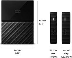 WD My Passport - Disco Duro Portátil de 4 TB y Software de Copia de Seguridad Automática, Azul: Western-Digital: Amazon.es: Informática