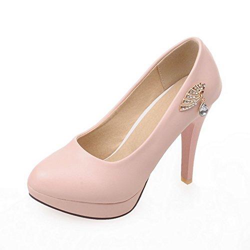 1TO9Ladies metal Dress, ornamento con poliuretano pumps-shoes, Rosa (Pink), 35 EU