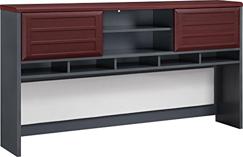 Ameriwood Home Pursuit Hutch, Cherry/Gray (Ameriwood Cherry Desk)