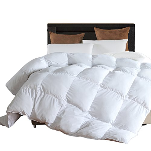 L LOVSOUL Down Alternative Comforter (White,King)-Ultra Soft Brushed Microfiber-Hypoallergenic Plush Mircofiber Comforter Duvet Insert (106x90Inches)