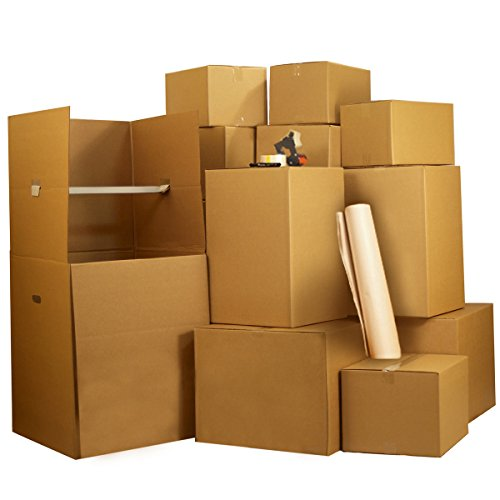 UBOXES 1 Room Wardrobe Moving Kit 10 Packing Boxes and Moving Supplies (Kit Box Room)