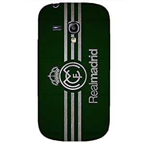 Real Madrid CF Green Background Logo Nobby Plastic Phone Case for Samsung Galaxy S3 Mini